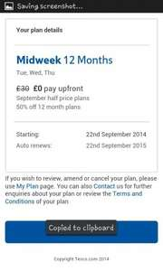 Tesco Delivery saver double up price glitch - 12 month midweek or anytime plan for £0! CHECK YOUR POST TODAY!