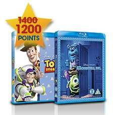 Disney Movie Rewards - 2 Blu-ray Movies for 1200 Points