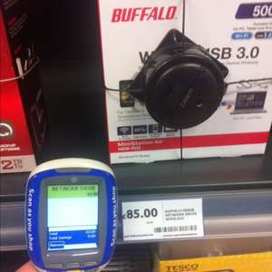 Buffalo 500gb wireless portable drive on marked as £85 scanning at £63 at Tesco in store.
