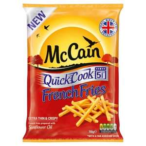 MCCAIN QUICK COOK FRENCH FRIES 750G £1.00 @ ICELAND