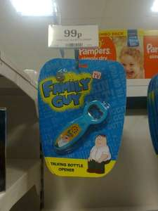 Family Guy talking bottle opener 99p in home bargains