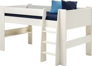 Steens Mid Sleeper Bed.... Solid White £184.95 @ Cleverclicker