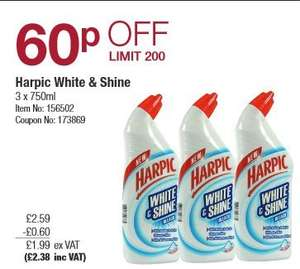 Harpic White & Shine Bleach (3x750ml) £2.38 @ Costco