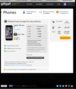 IPHONE 6 in stock @ giffgaff from £50 upfront + £22.39month / 24mths UNLOCKED!