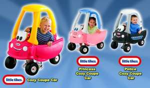 Little Tikes Cozy Coupe Car, Police Cozy Coupe Car and Princess Cozy Coupe Car, £28.99 (see code) at Smyths
