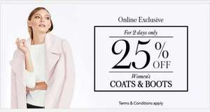 25% OFF women's coats and boots @ George Asda