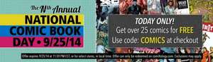 Get 25 free digital comics using promo code @ Comixology.com