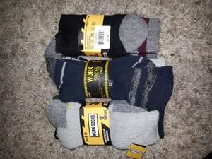 Mens 3pk work socks ONLY £1 from £5 at Peacocks
