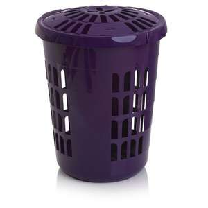 £5.00! ~ Wilko Laundry Basket, Purple, Green, Blue Or Red! ~ @ Wilkinson ~ Free click and collect