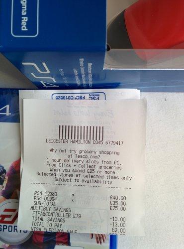 Fifa 15 + controller (PS4) £62 @ Tesco Instore