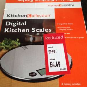 Digital kitchen scales - £4.49 instore @ ALDI