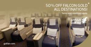 50% off Gulfair Business Class, 24hrs only!