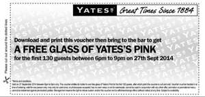 Free Glass of Yates's Pink Drink @ Stonegate Pubs