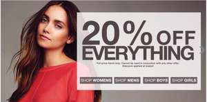 20% off Everything Online @ Peacocks