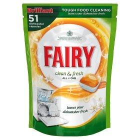 51 Fairy Clean & Fresh Citrus Grove Dishwasher Tablets £2.50 @ ASDA
