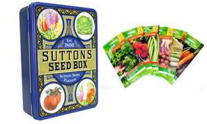Sutton Seed Tin: Salad/Vegetables or Flower Mix (£14.99) or Both (£21.99) (Up to 79% Off) - Direcdt Checkout (Groupon)