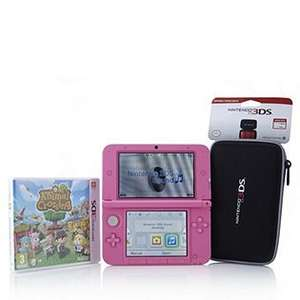 Pink Nintendo 3DSXL with charger, case and Animal Crossing game £179.97 @ QVC