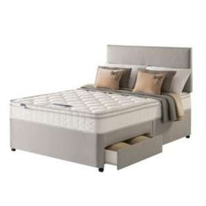 £159.99 + £8.95 P&P ~ was £1199.99 LESS THAN HALF PRICE ~ Silentnight Jackson cushiontop double 2 Drw divan Be @ Argos