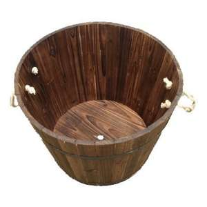 Wooden Barrel Planter - £14.99 @ Homebase
