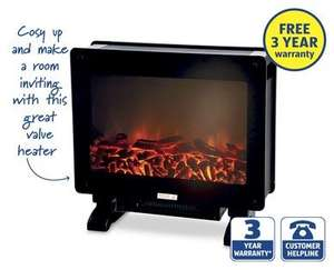 flame effect heater for at aldi from sunday 5th. Black Bedroom Furniture Sets. Home Design Ideas