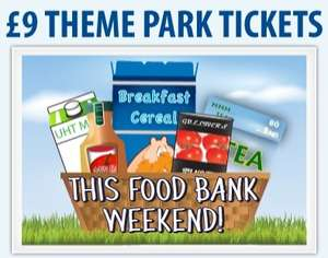 Gullivers Theme Parks - £9 Entrance Fee this weekend at Warrington, Matlock Bath & Milton Keynes - supporting Trussell Trust Foodbanks Charity