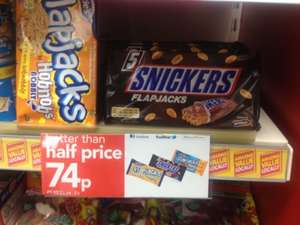 5 Snickers/Hobnobs flapjacks 74p @ Premier shops