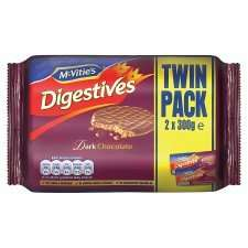 McVities Chocolate Digestives or Hobnobs - Twin pack - £1.50 at Tesco