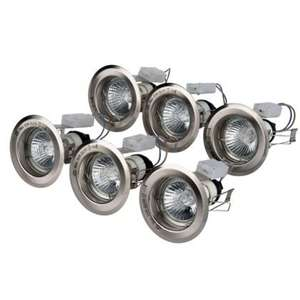 Value Downlights - Brushed Chrome - 6 Pack  Were £15.99 Now £7.93 @ Homebase