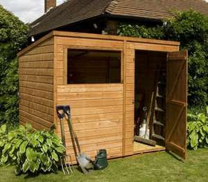 8' x 6' Tongue & Groove Pent Wooden Shed £304.95 @ Waltons