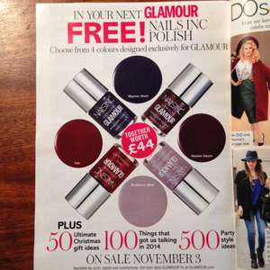 Free Nails Inc Polish with November Glamour Mag