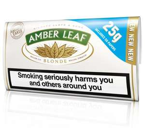 £7.50 Amber Leaf Blonde 25g at WH Smith's.