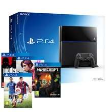 PS4 Console + FIFA 15 + Minecraft + Infamous First Light + Wolfenstein - £369.85 @ Shopto