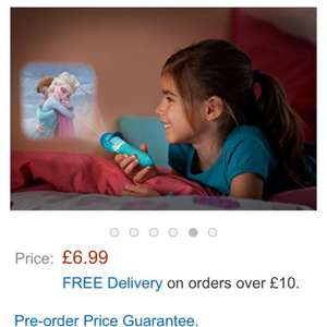 Philips Disney Frozen Children's Projector Torch and Night Light (1 x 0.3 W Integrated LED) Amazon - £6.99 (Free Delivery with Prime/£10 spend)