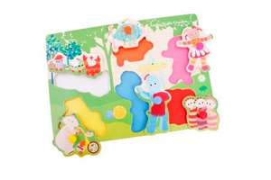 In The Night Garden Pick 'n' Place Wooden Puzzle £5.77 Amazon (Free Delivery with Prime/£10 spend)