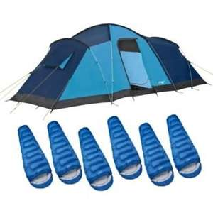 6 man tent + 6 sleeping bags £79.99 @ Argos Clearance