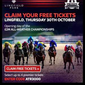 Free tickets to Lingfield Racing