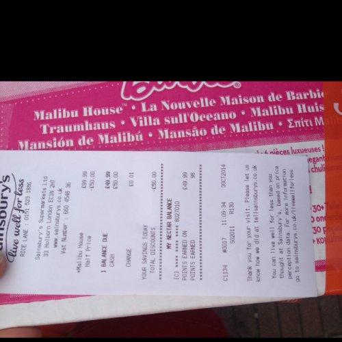 Barbie Malibu house £49.99 @ Sainsburys instore