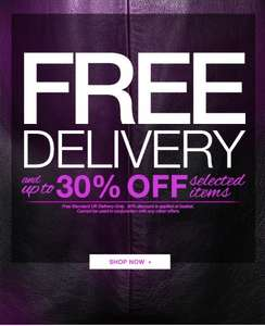 Free Standard UK Delivery On All Orders Until Midnight 4th October + Up to 30% off Selected Lines  @ Peacocks