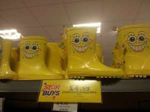 Spongebob Squarepants and Dora the Explorer Wellies - £4.99 in Home Bargains