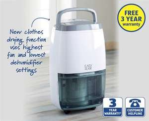 Dehumidifier, clothing drying function, 3 years warranty £129.99 @ ALDI