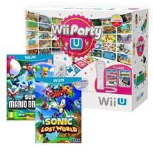 Wii U Basic Console + Wii Party U + Nintendoland + New Super Mario Bros + Sonic Lost World + Remote Plus Controller WII £184.85 @ Shopto