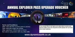 Dynamic Earth free Day ticket upgrade to Annual Pass £11