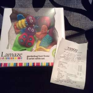 Lamaze Gardenbug foot finder & wrist rattle £5 @ Tesco in store