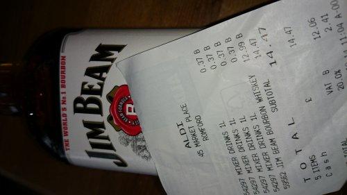 Jim Beam Bourbon 70cl - £12.99 Aldi