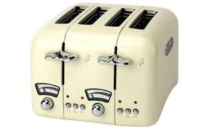 delonghi 4 slice toaster cream/black £24.99 was £69.99 then £34.99 now £24.99 @ sainsburys shrewsbury ** in store only**