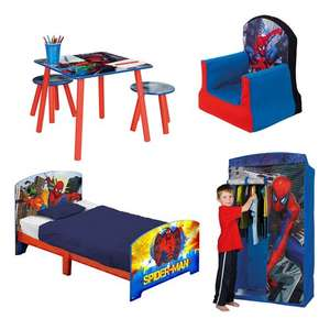 Spiderman bedroom furniture - £99 @ bigredwarehouse
