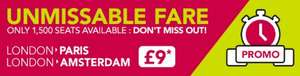 UNMISSABLE FARE: PARIS AND AMSTERDAM FOR ONLY £9 @ IDBUS
