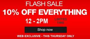 Halfords Flash Sale 10% Off Everything... This Thursday 12pm – 2pm!