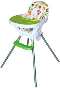Bebe Style Deluxe 3-in-1 Modern High chair, Junior Chair and Booster seat  (Green / Red) £27.99 @ Amazon with Free delivery
