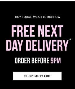 Free Next Day UK Delivery On All Orders Placed Before 9pm 9th October @ Fashion Union